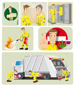 Consignes de sécurité en dessin