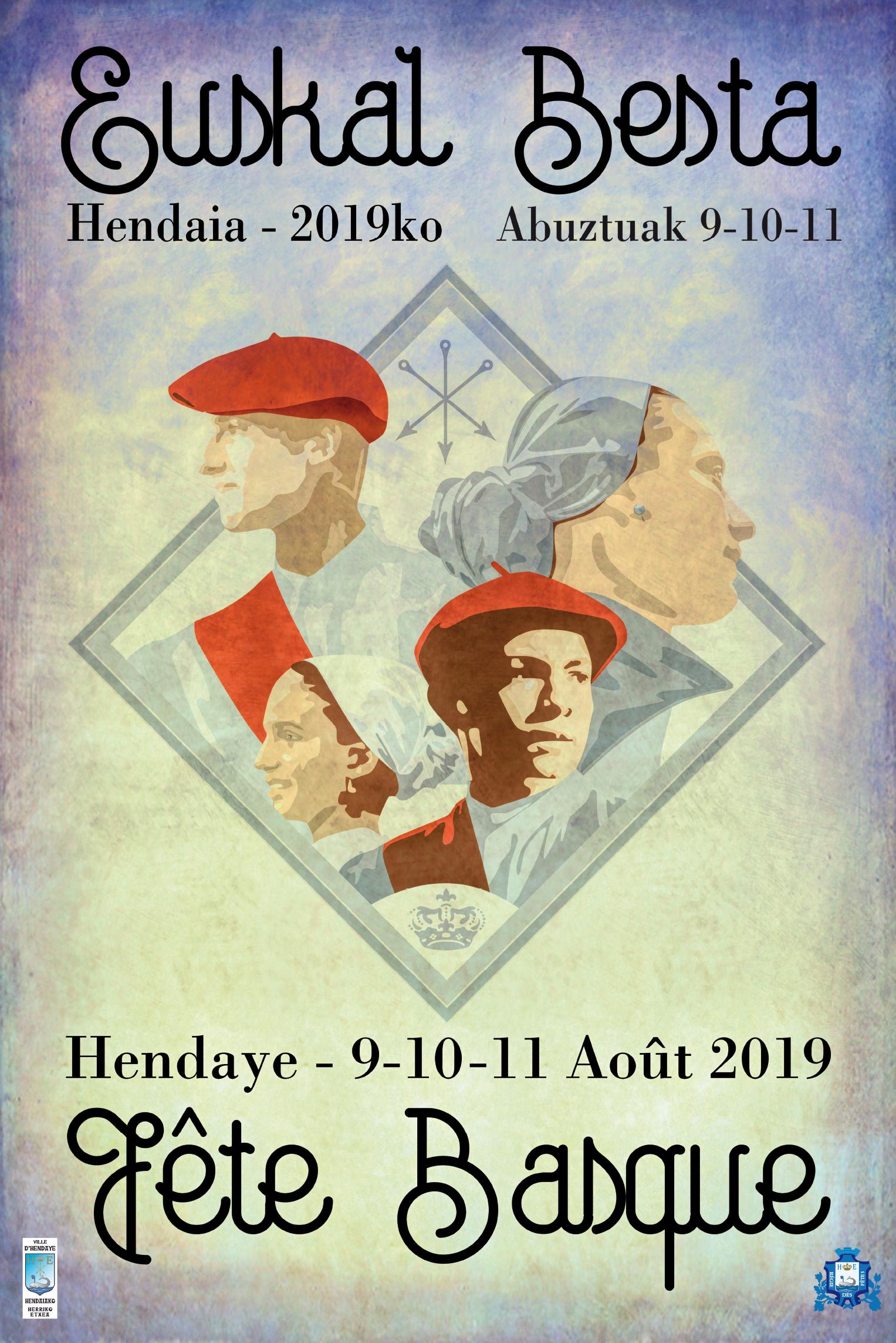 Affiche Fête Basque Hendaye 2019