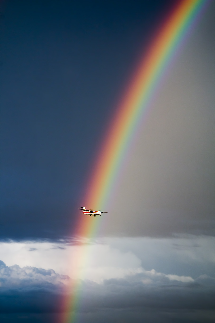 Rainbow airplane