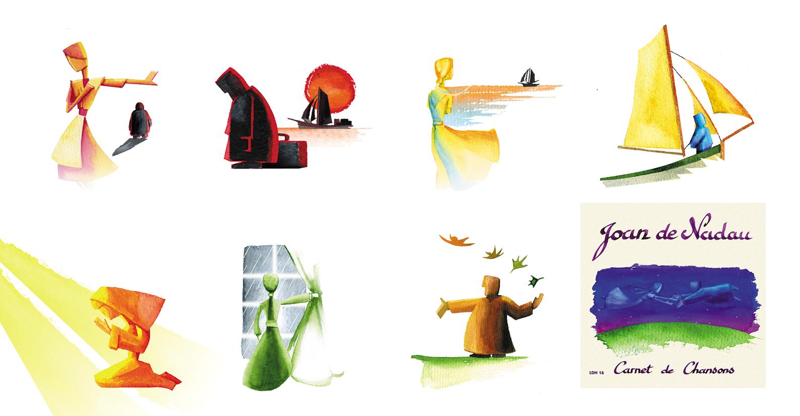 Illustration pour un CD de Joan de Nadau