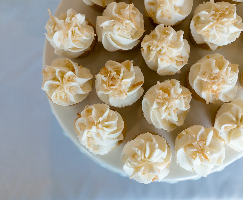Toasted Coconut Wedding Cupcakes