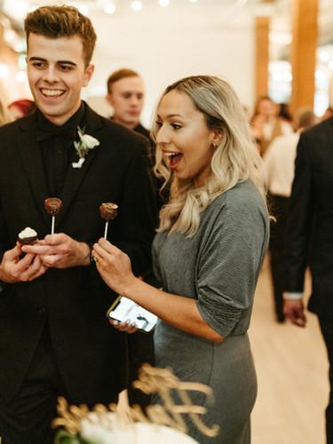 Wedding Guest enjoying treats!