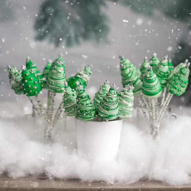 Holiday Tree Cake Pops