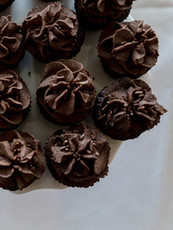 Double Chocolate Wedding Cupcakes