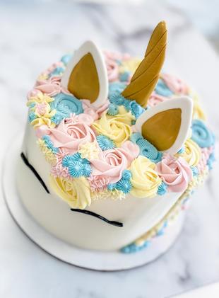 Unicorn Cake - Pastel Rainbow