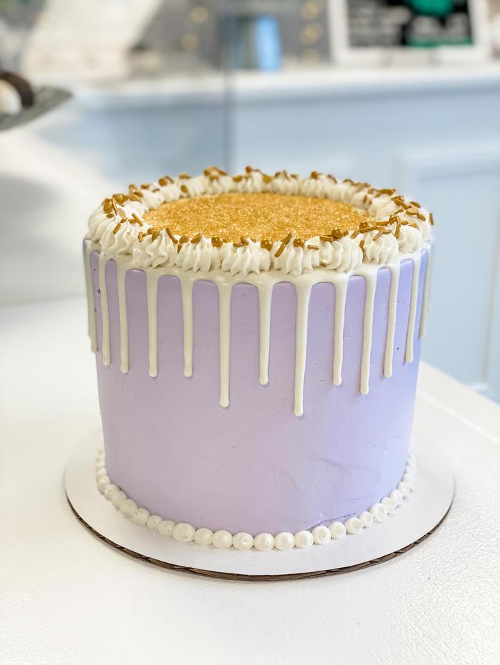 Purple + Gold Cake