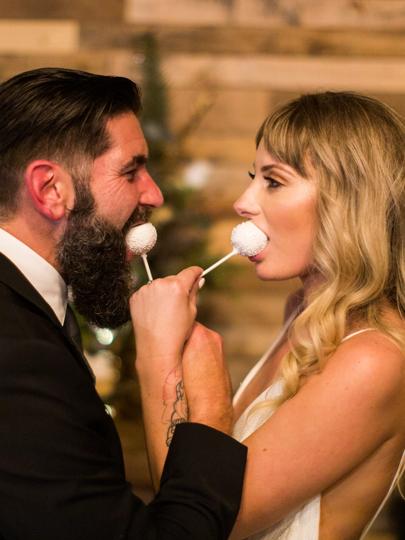 Bride & Groom Cake Pop Tasting