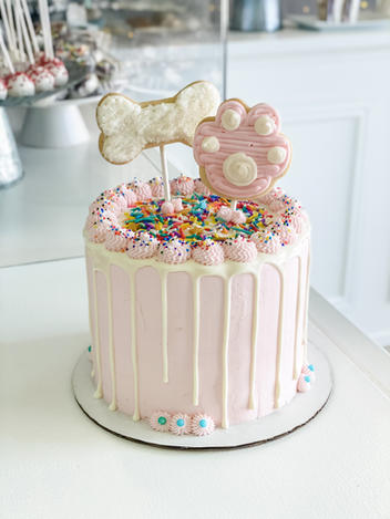 Paw Cookie Cake