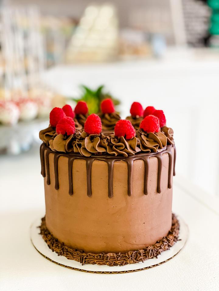 Chocolate + Raspberry Cake