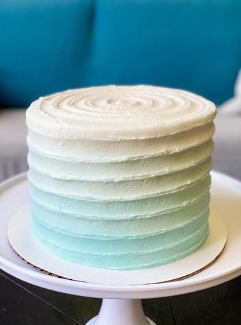 Blue Ombre Pleat Cake