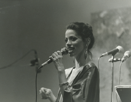 Maria performing with her jazz quartet