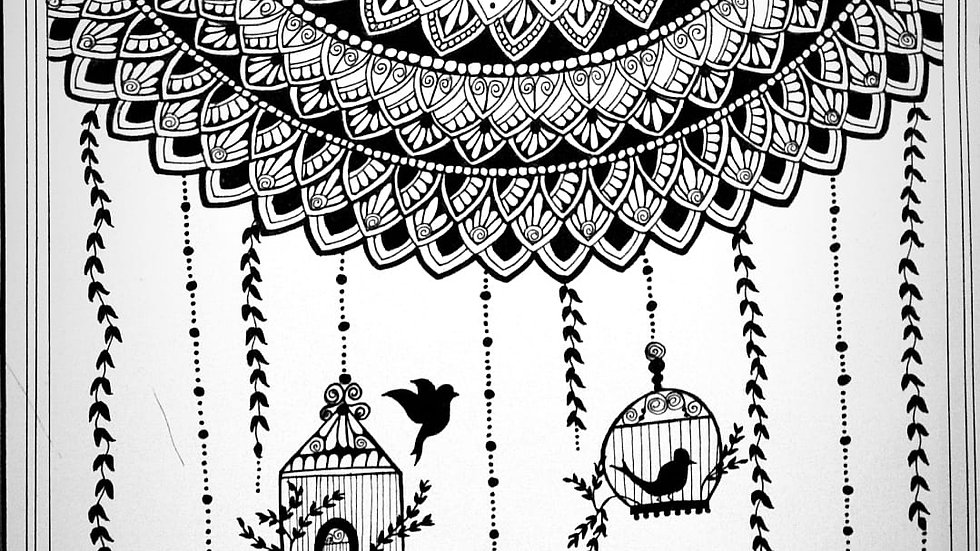 Mandala Art Birds