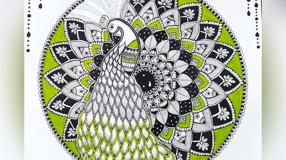 Colourful and Enchanting Peacock Mandala Art