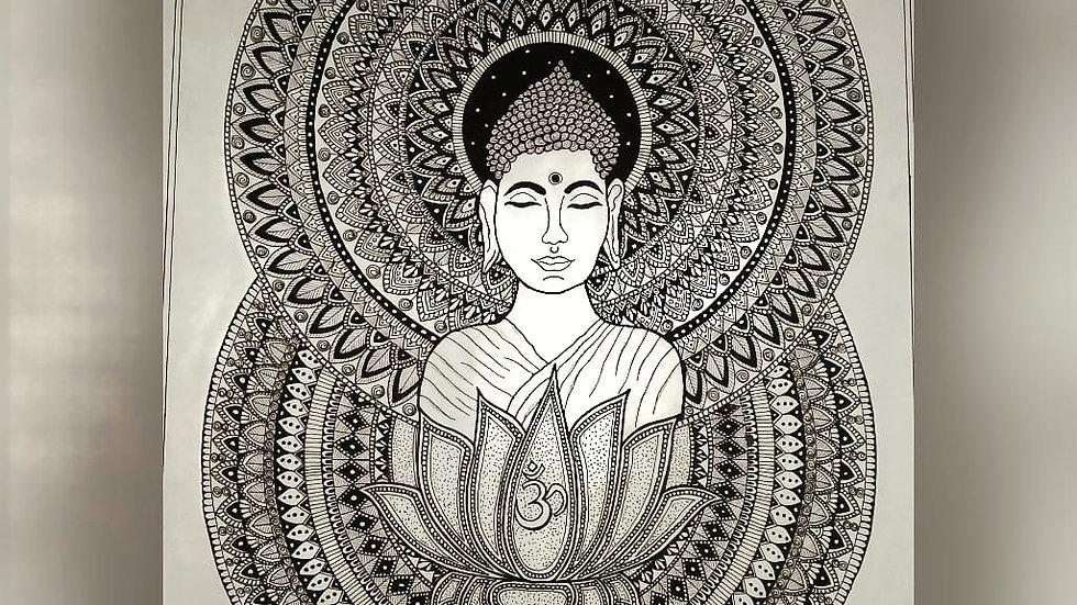 Beautiful Buddha Mandala Art