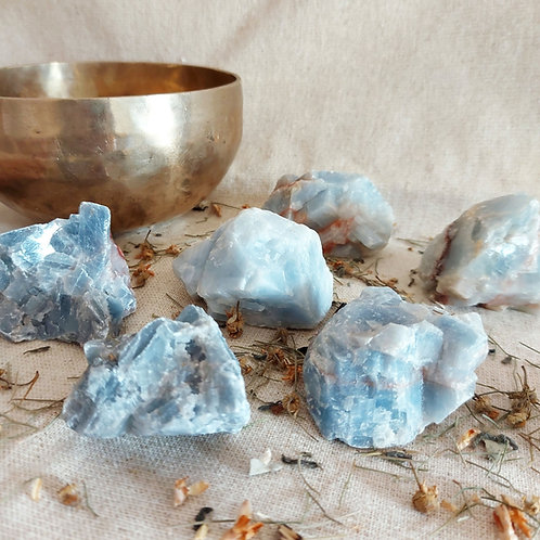 Calcite Azul - cristais grandes