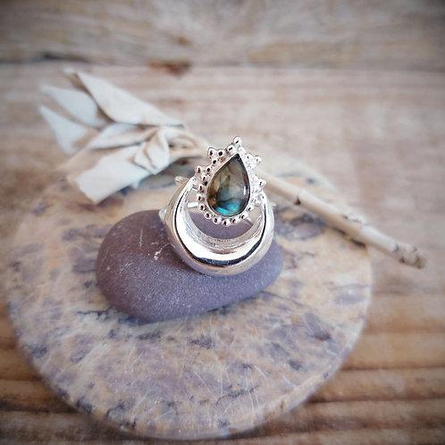 Heavenly - anel - Labradorite