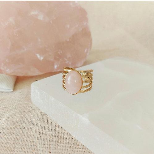 Lovely - Quartzo Rosa - anel
