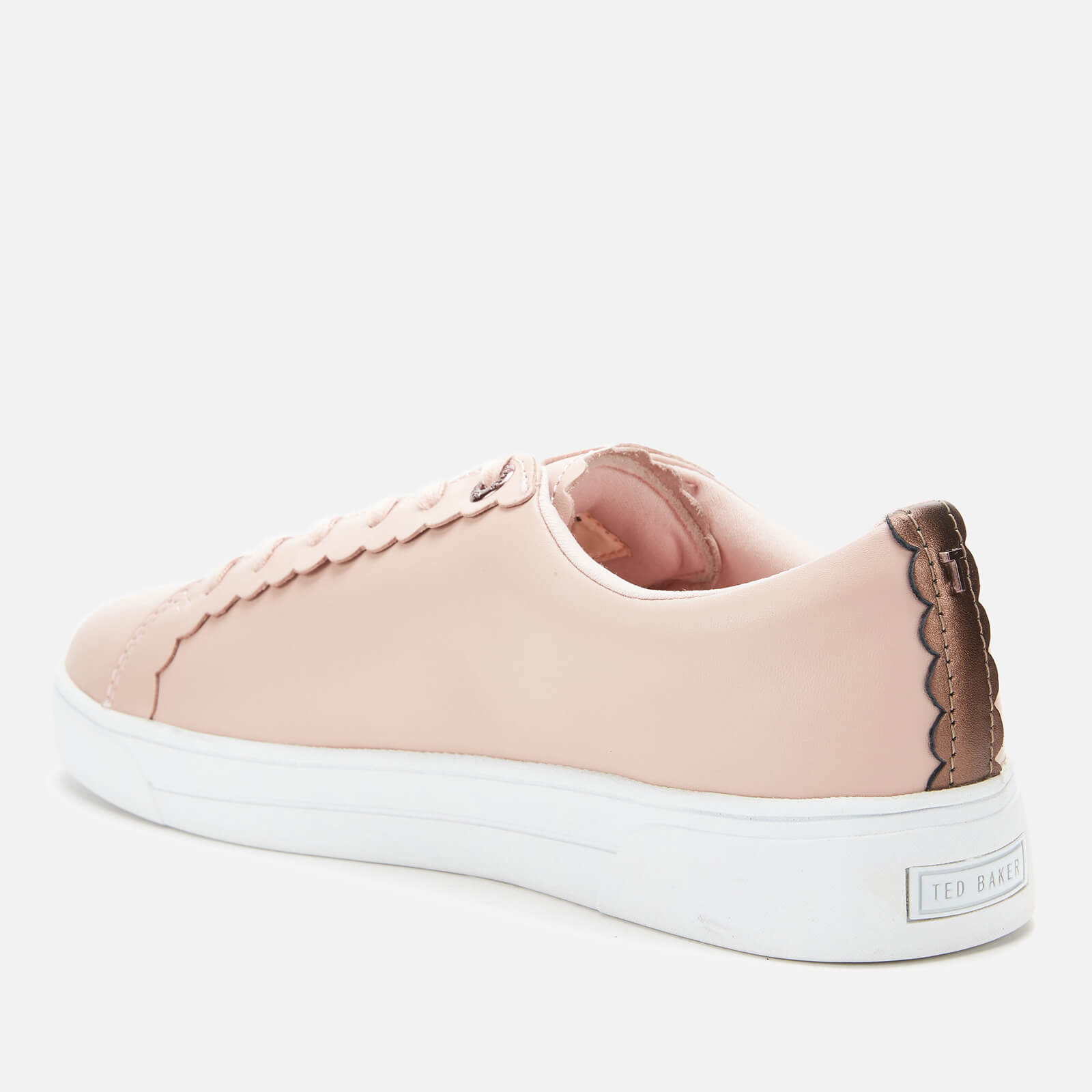 Ted Baker Women's Tillys Leather Cupsole Trainers - Nude Pink
