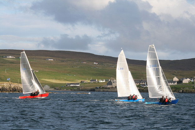 Shetland model racers Chicane, Vela and Solus begin the North Challenge Cup