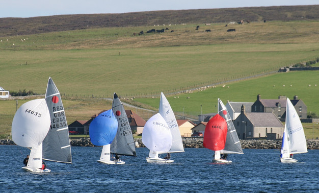 Dinghies on a reach