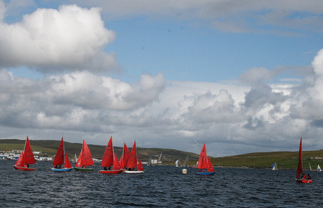 Mirrors with dinghies and Shetland Models in background
