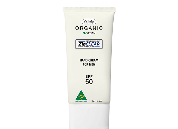 Organic Hand Cream For Men SPF 50