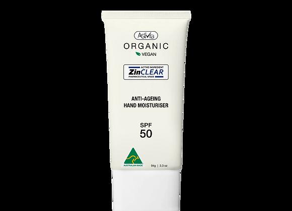 Organic Anti-Ageing Hand Moisturiser SPF 50