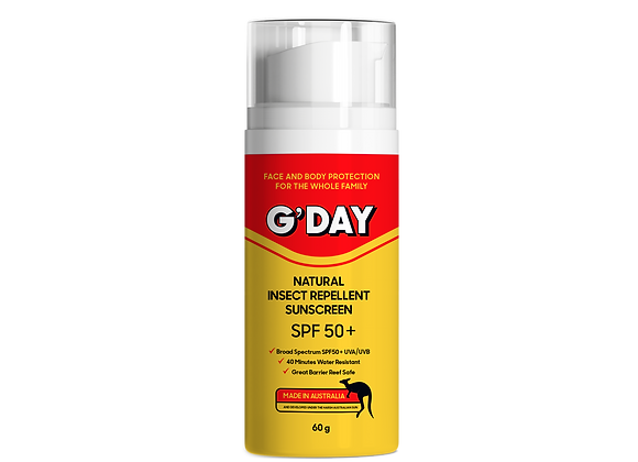 Natural Insect Repellent Sunscreen SPF50+