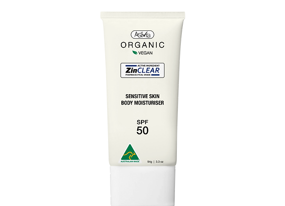 Organic Sensitive Skin Body Moisturiser SPF 50