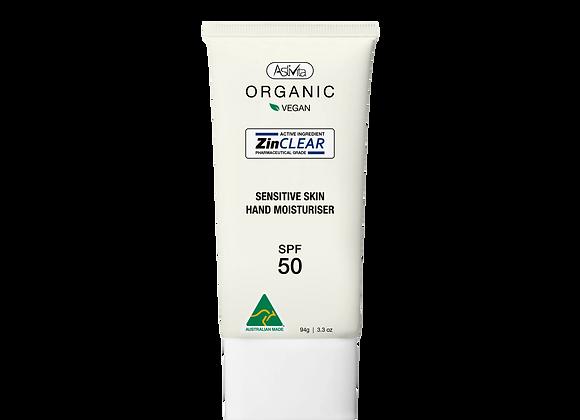 Organic Sensitive Skin Hand Moisturiser SPF 50