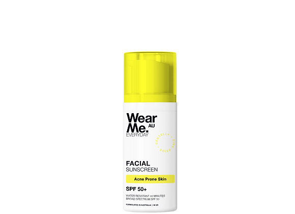 Mineral Facial Sunscreen for Acne Prone Skin SPF50+