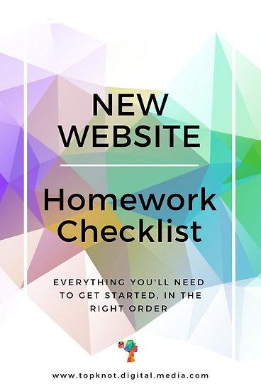 New WiX Website: Homework Checklist