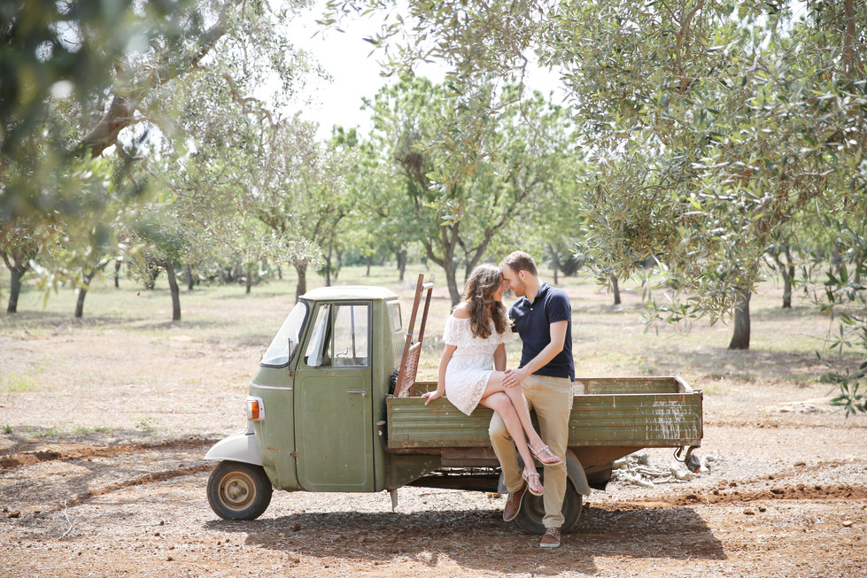 Italy, I miss you... Met love-photoshoot tussen de olijfbomen