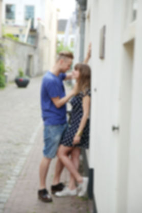 Gerwin & Loes - Love-photoshoot Forever Yes Photography - Centrum Utrecht - Oude Gracht