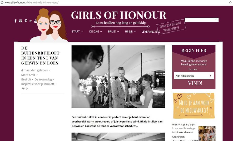 Publicatie Girls of Honour - Real Wedding Gerwin & Loes