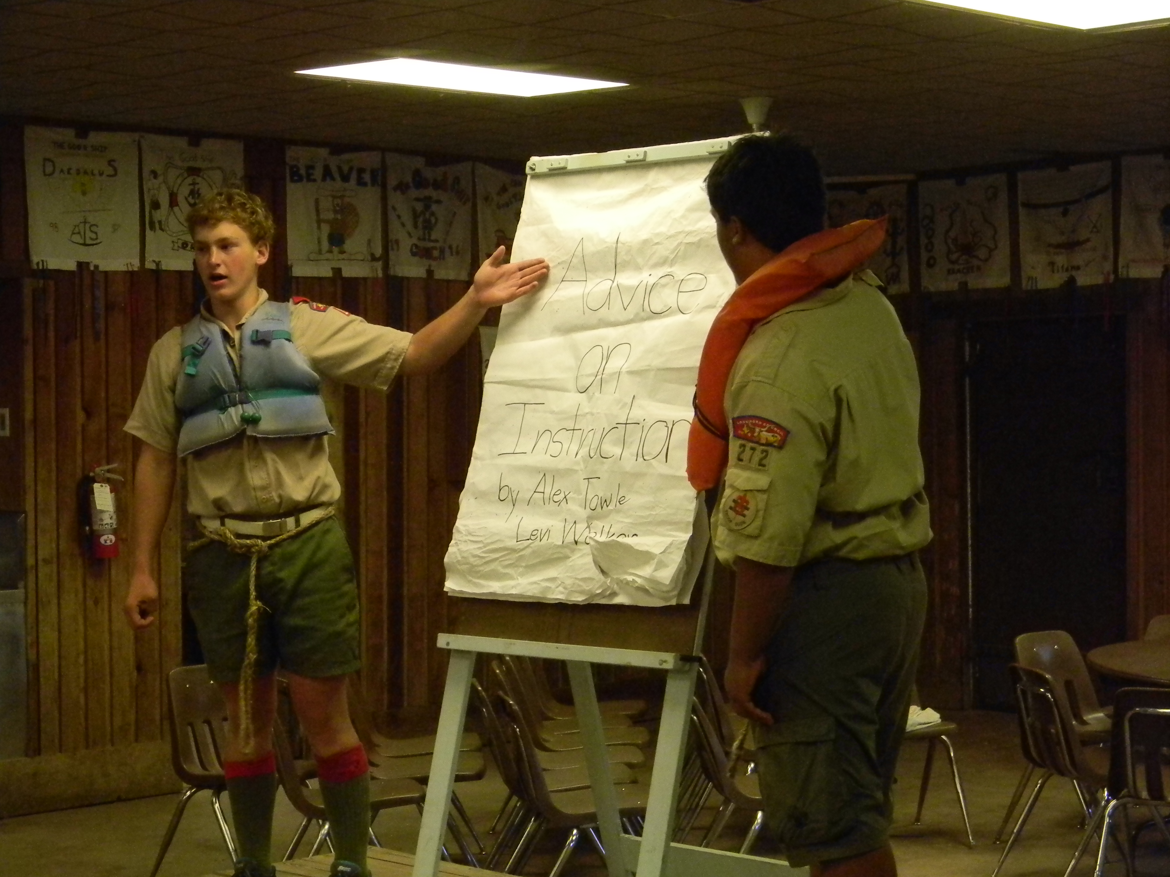 Scouts present on Aquatic Safety