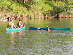 Swamping canoes