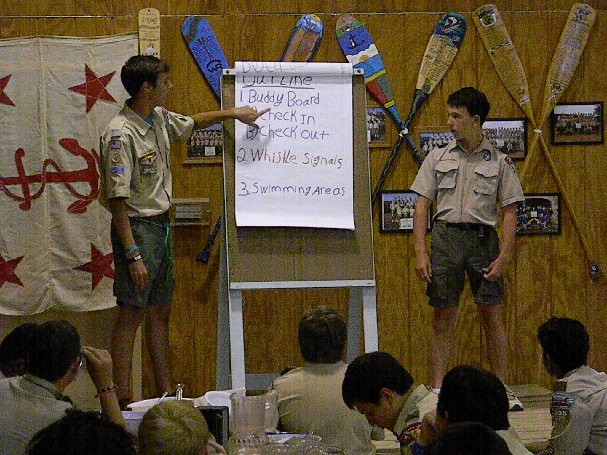 Scouts give presenation