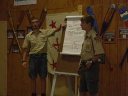 Scouts give presenation