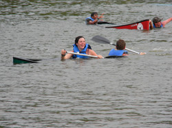 Canoe swamping