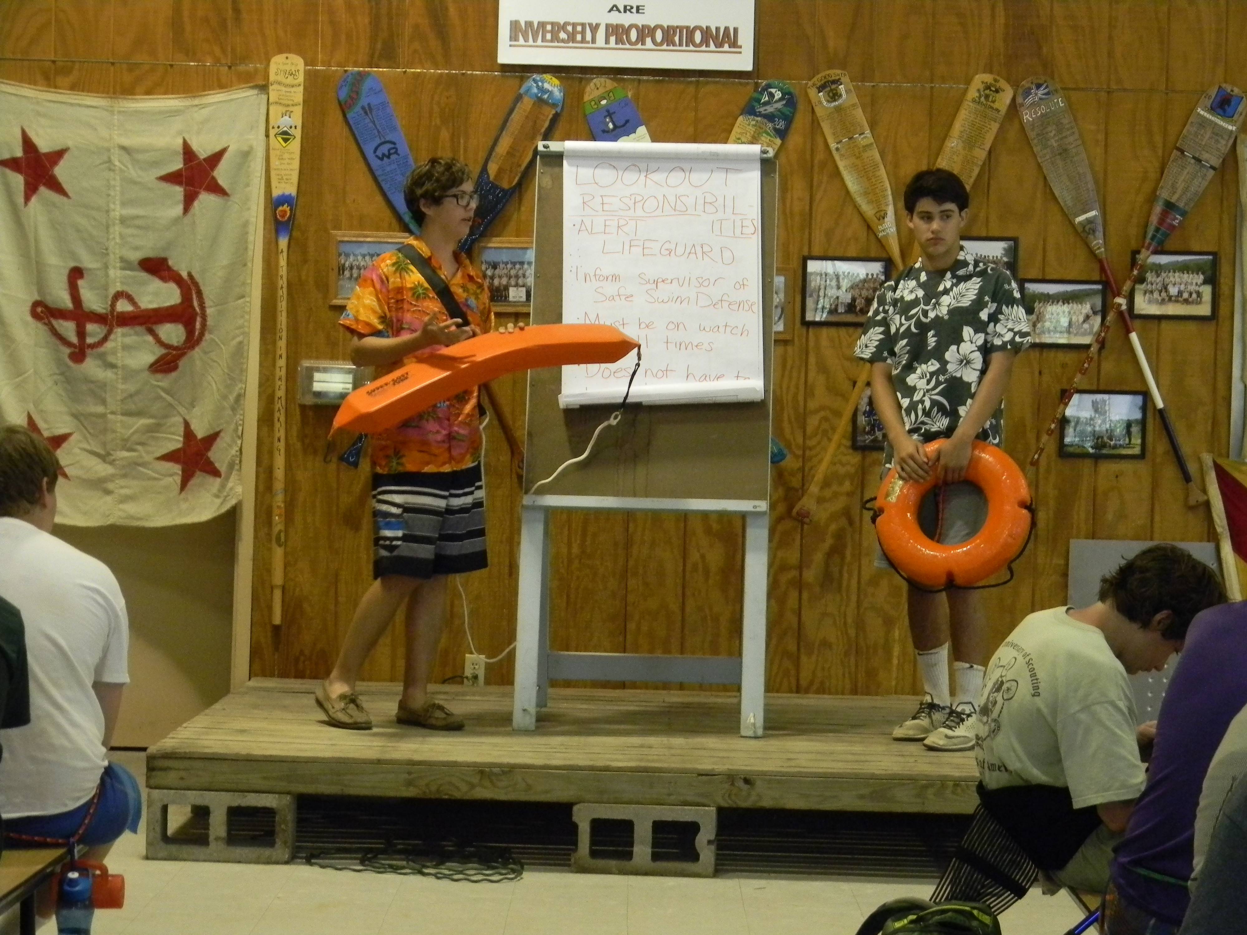 Aquatic safety presentation