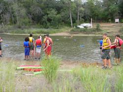 Setting up safe swim area