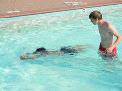 Learning to teach swimming