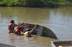 Swamping row boats
