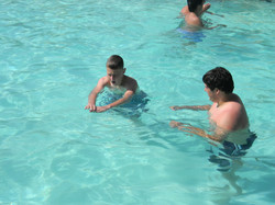 Learning how to teach swim strokes