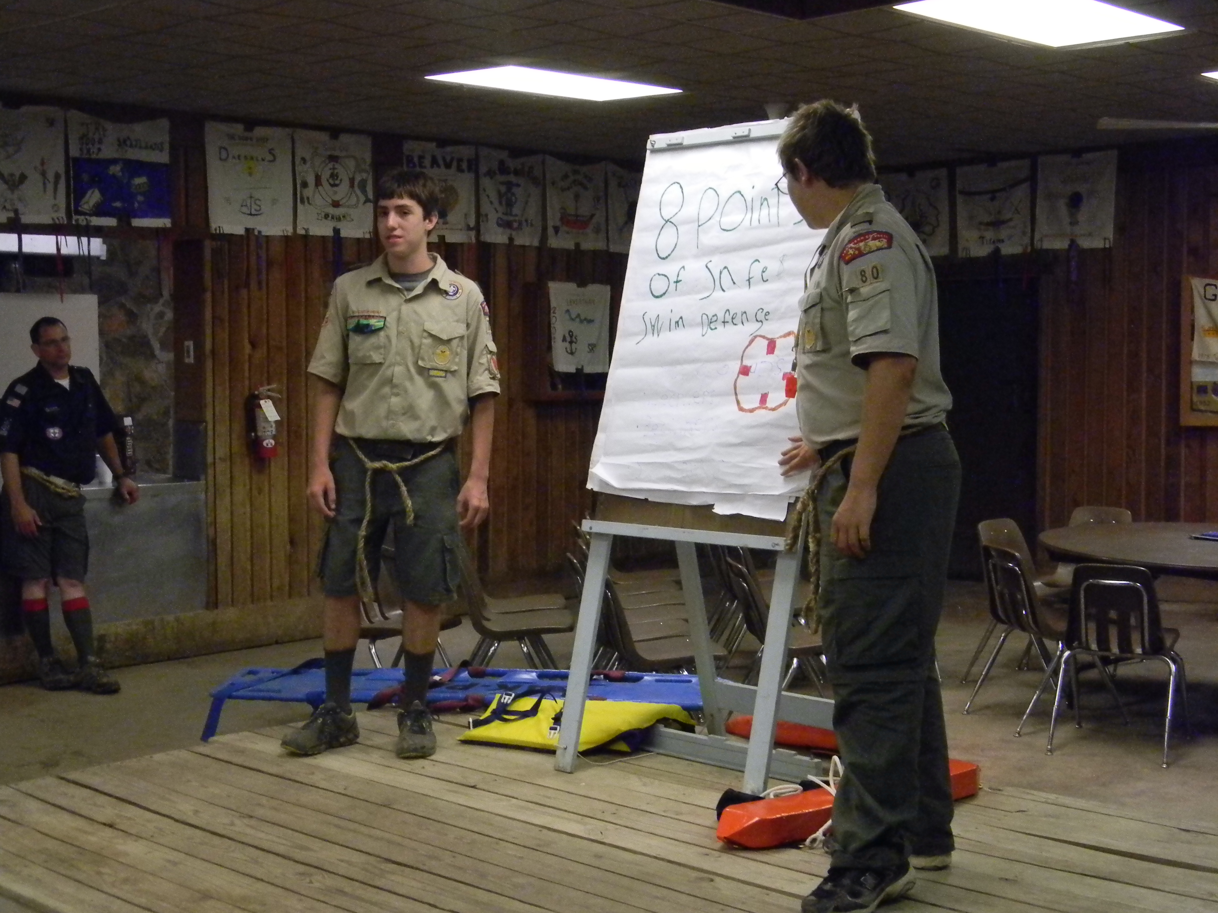 Scouts give presentation