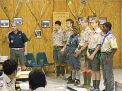 Scouts learn about Aquatic Safety