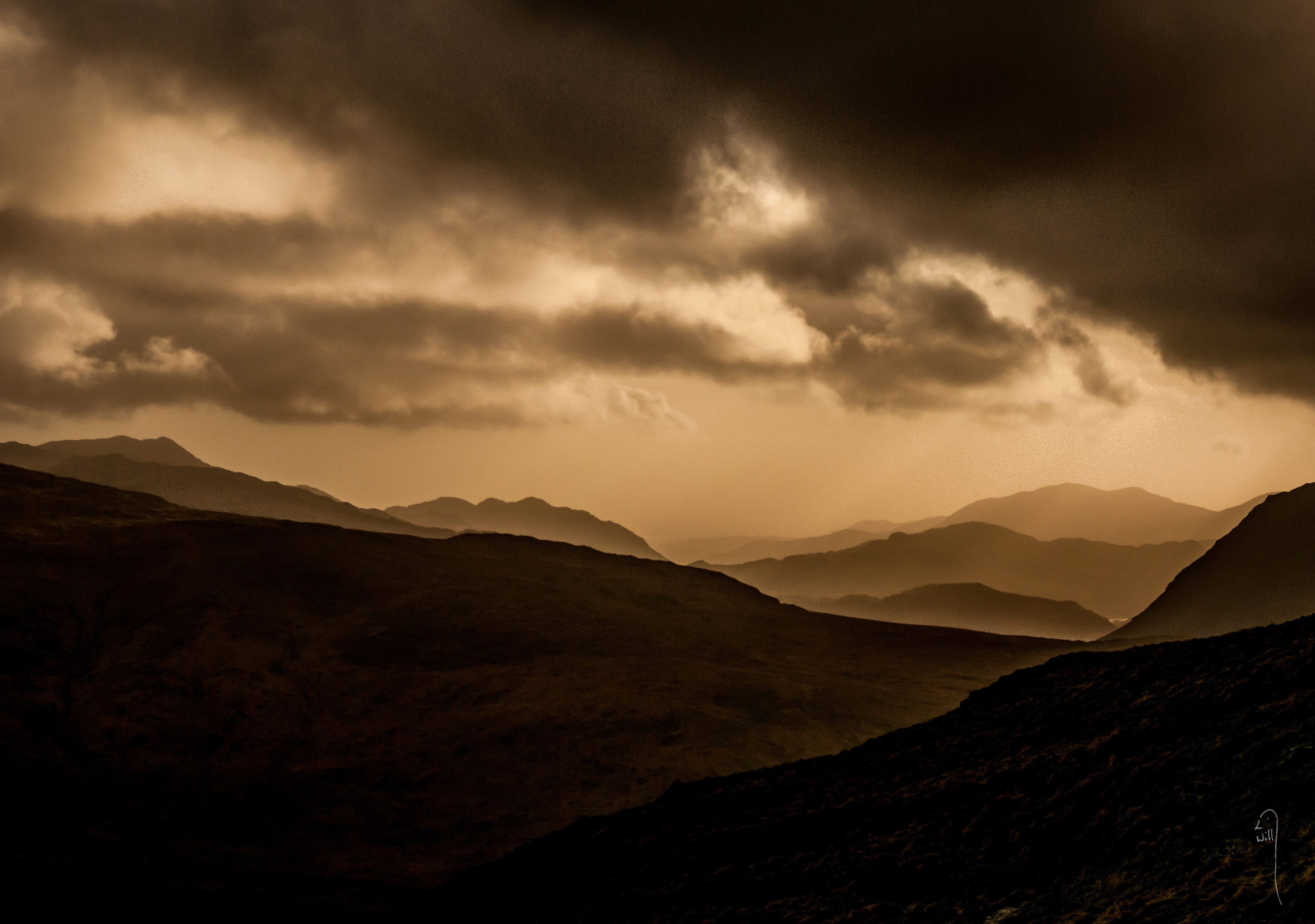 Snowdonian Horseshoe at sunset