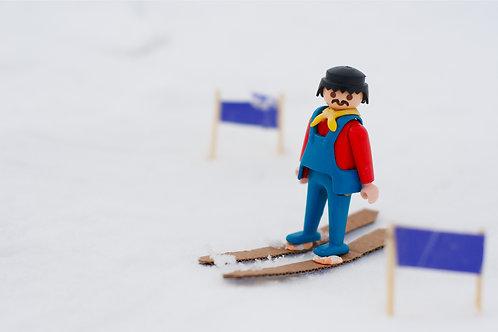 Mr G. F skiing