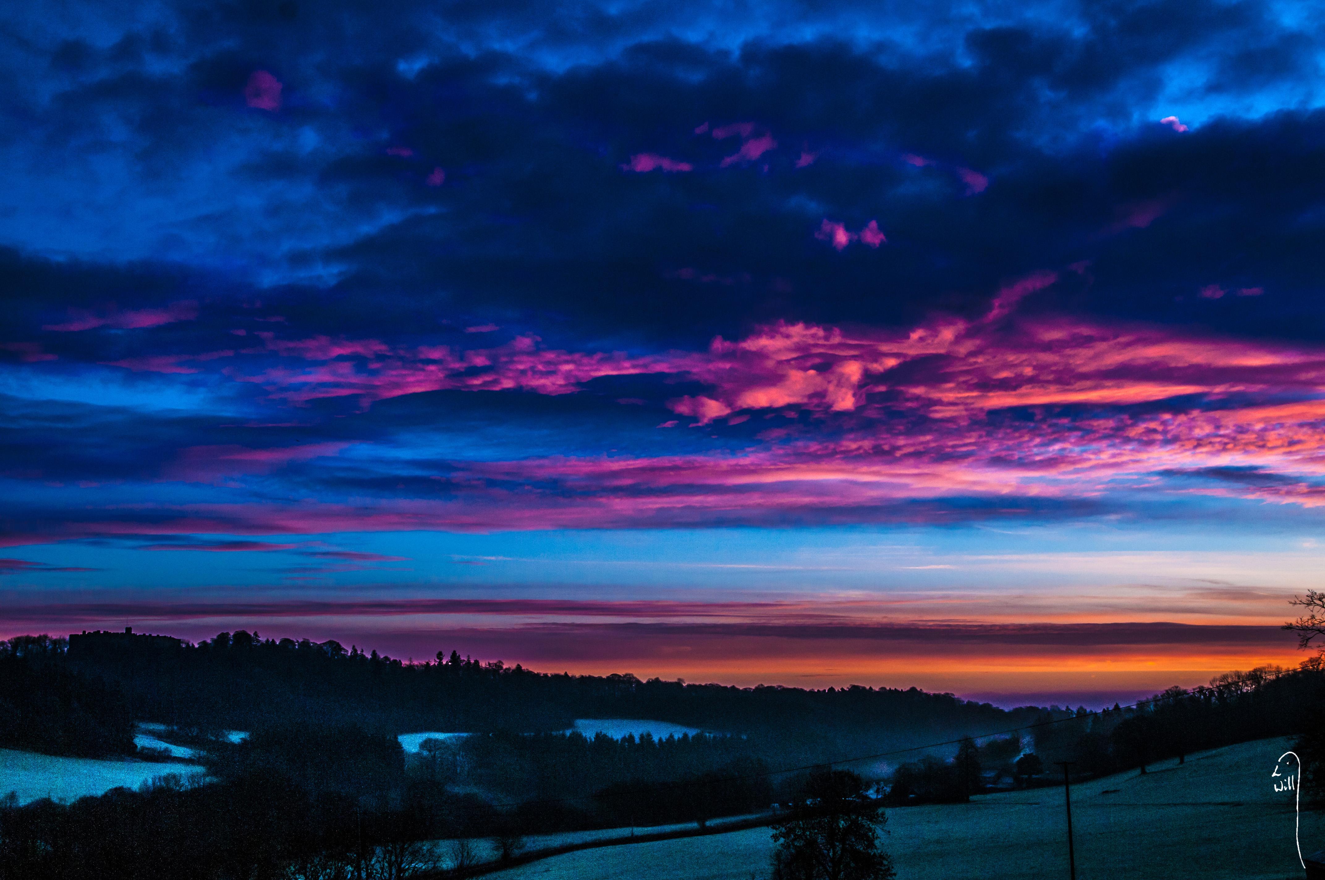Dawn over the Ceiriog Valley